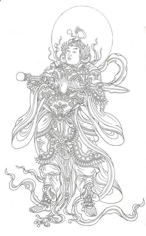 韦陀菩萨:韦陀杵方向的含义